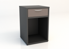 200 Series Bedside Table with 1 drawer open