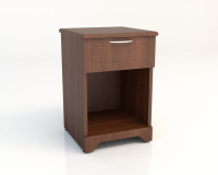 400 Series Bedside Table with 1 drawer open